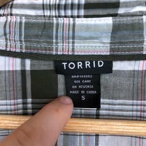 torrid Tops - Torrid | Cotton Camp Plaid Button Down
